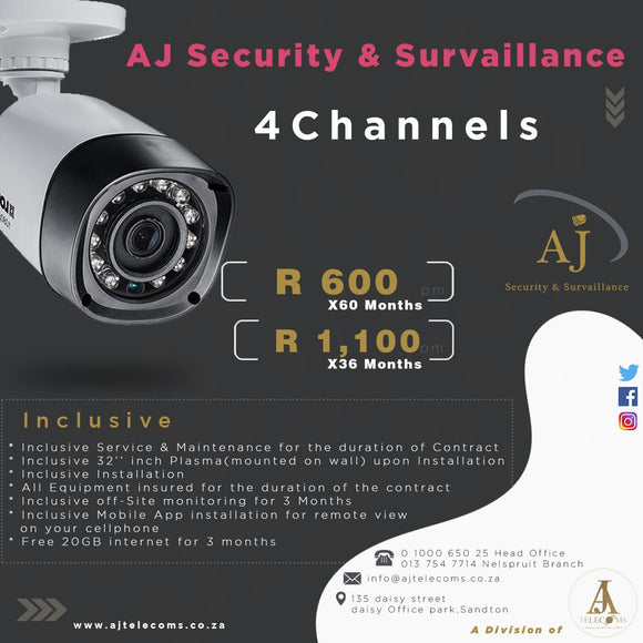 Aj Security & Surveillance (4 Channels Equipment Rental)