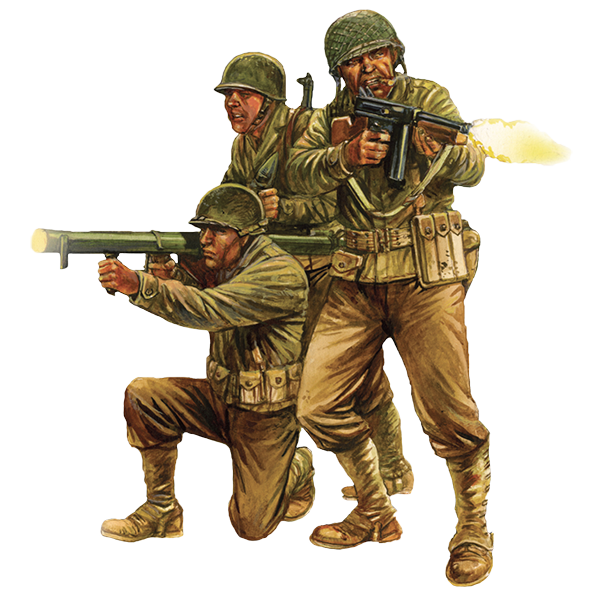 US Infantry - WWII American GIs art