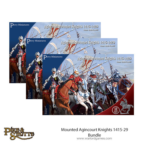 Mounted Agincourt Knights 1415-29 Bundle