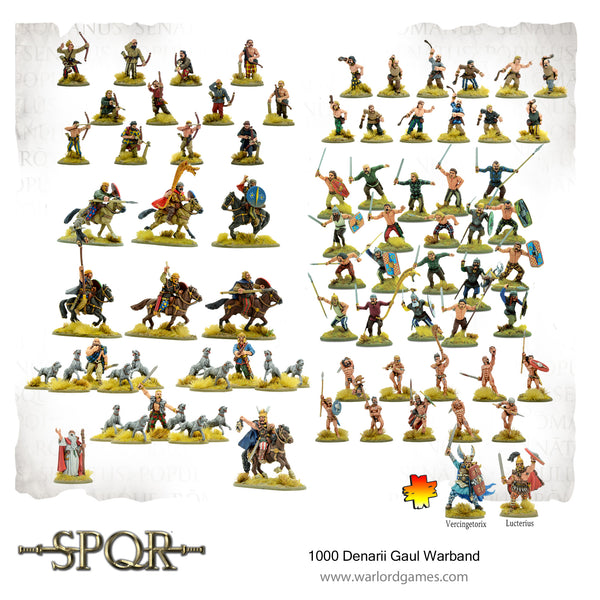 SPQR - 1000 Denarii Warriors of Gaul Warband