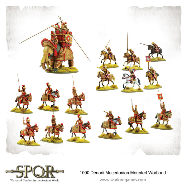 SPQR - 1000 Denarii Macedonian Mounted Warband