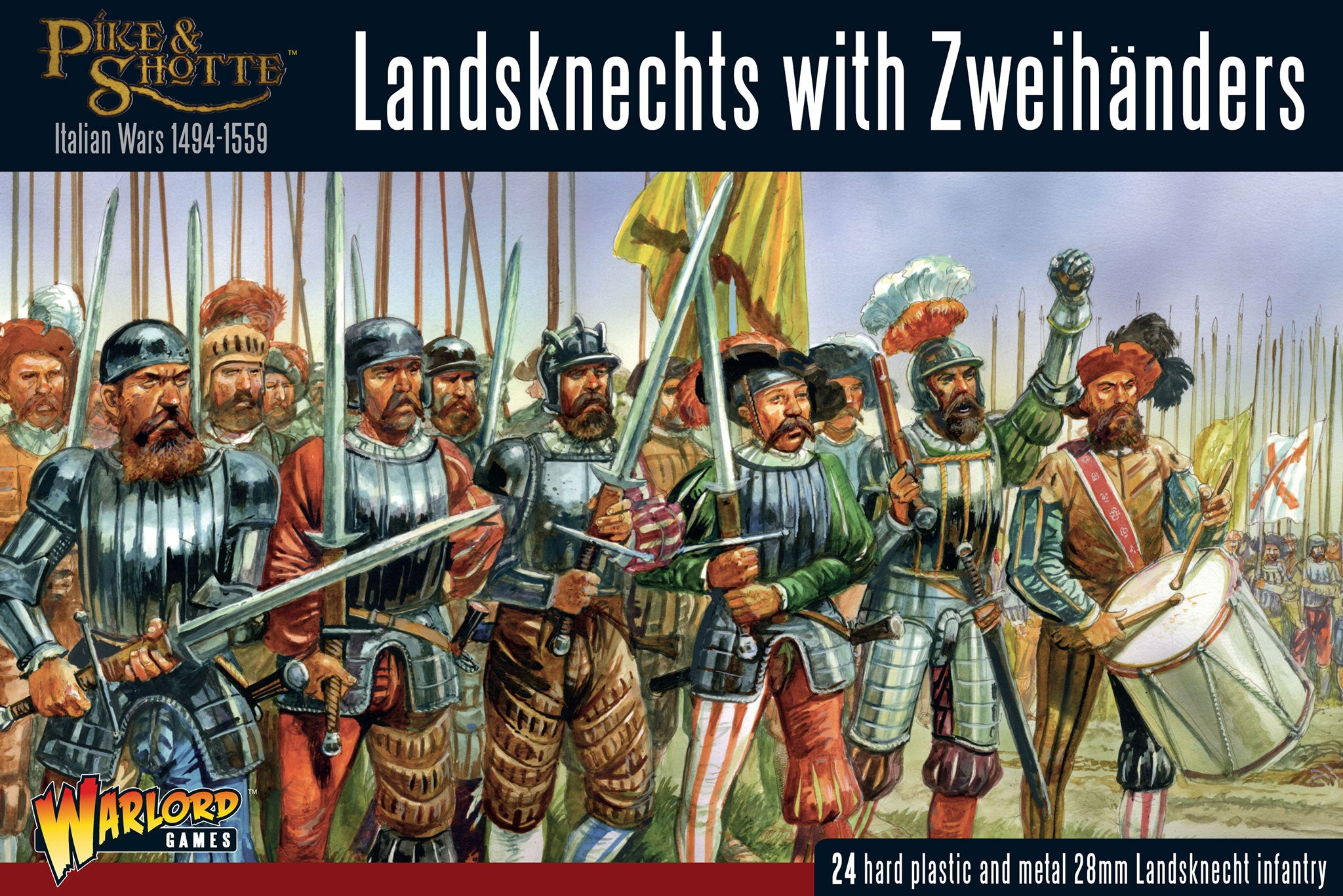 Box Stock Project >> Landsknechts with Zweihanders - Warlord Games