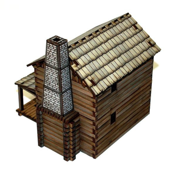 Settler's Lofted Log Cabin 3