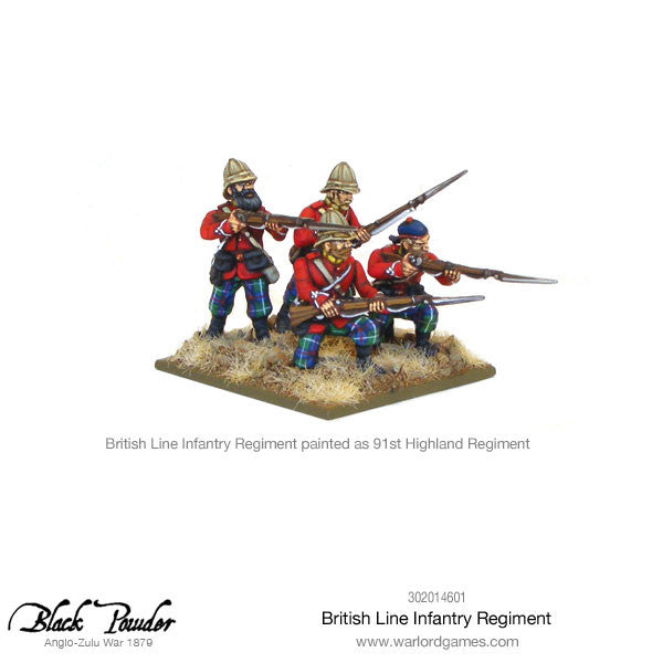 Anglo-Zulu War: British Line Infantry Regiment