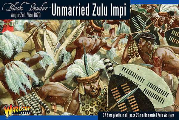 Black Powder: Unmarried Zulu Impi -  Warlord Games