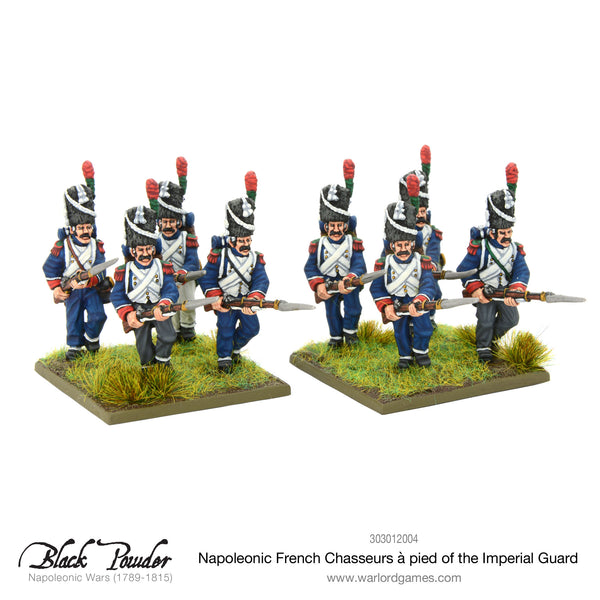 Napoleonic French Chasseurs a Pied of the Imperial Guard