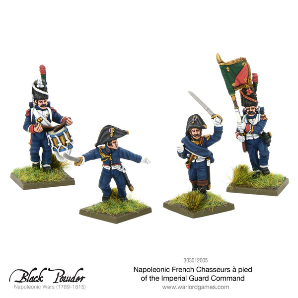 Napoleonic French Chasseurs a Pied of the Imperial Guard command