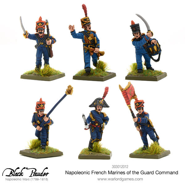 Napoleonic French Marines of the Guard command