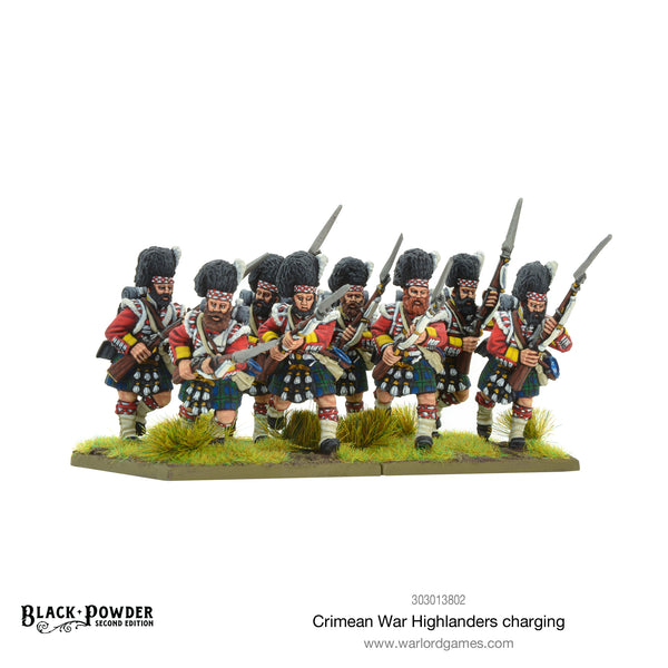 Crimean War Highlanders charging