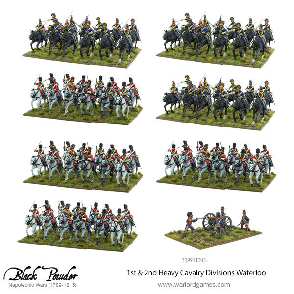 1st & 2nd Heavy Cavalry Divisions Waterloo