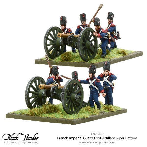 Napoleonic French Imperial Guard Foot Artillery 6-pdr Battery