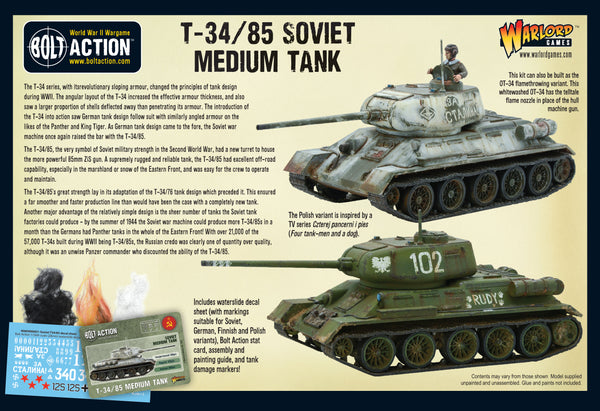T-34/85 medium tank (plastic)