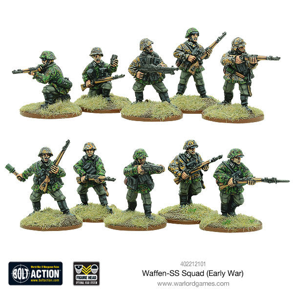 early war waffen ss squad 1939 1942 warlord games
