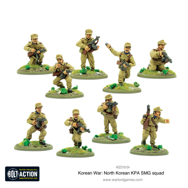 Korean War: North Korean KPA SMG squad