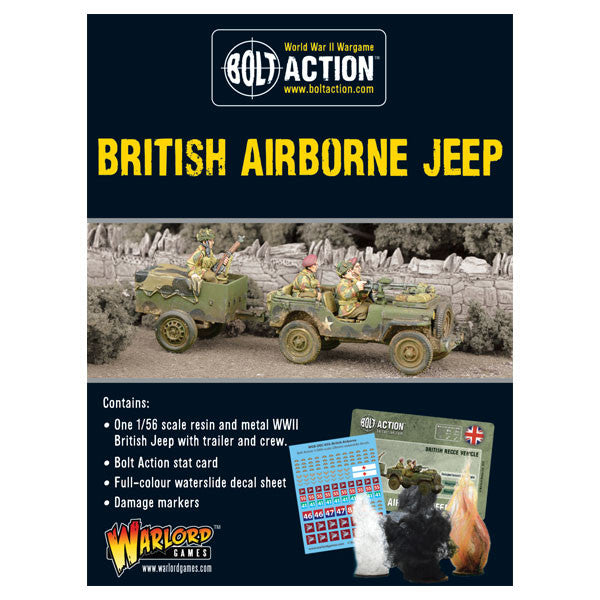 British Airborne Jeep & Trailer