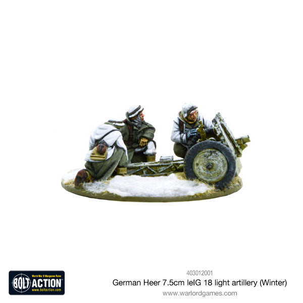 German Heer 7.5cm leIG 18 light artillery (Winter)