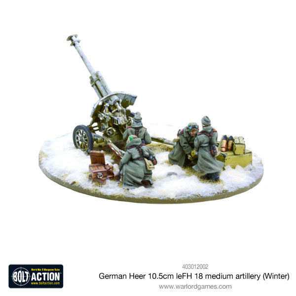 German Heer 10.5cm leFH 18 medium artillery (Winter)