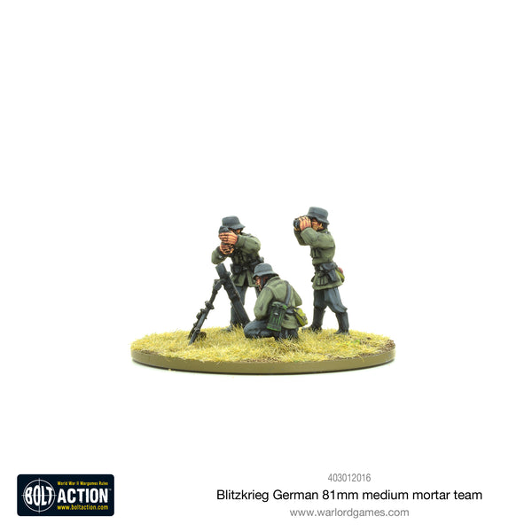 Blitzkrieg German medium mortar team (1939-42)