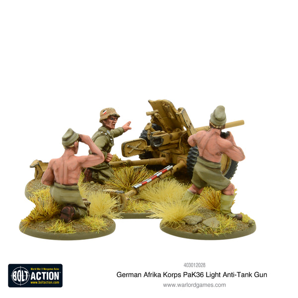 Afrika Korps Pak 36 light anti-tank gun