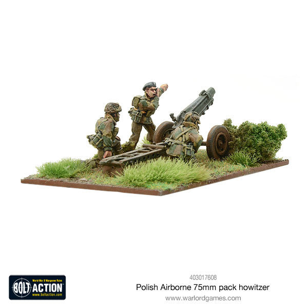Polish Airborne 75mm pack howitzer