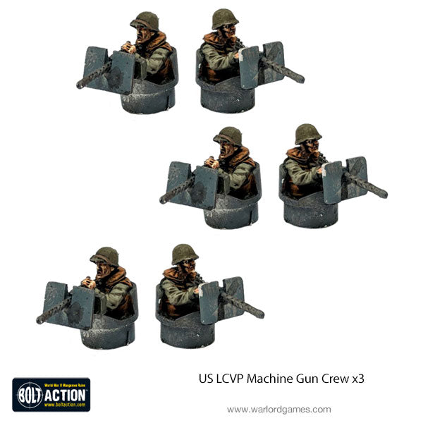 US LCVP Machine Gun Crew