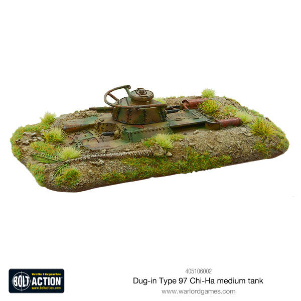 Dug-in Type 97 Chi-Ha medium tank