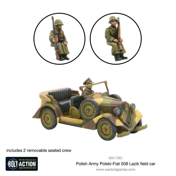 Polish Army Polski Fiat 508 Lazik field car