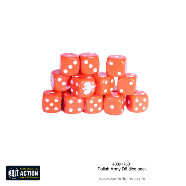 Polish Army D6 dice pack
