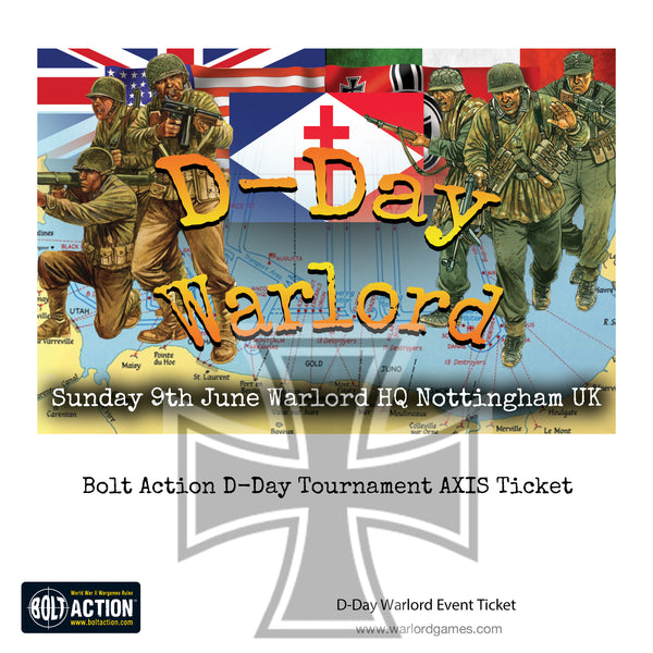 Bolt Action D-Day Tournament 9th June 2019 - AXIS Ticket