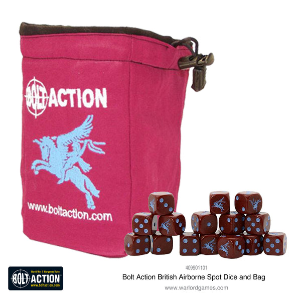 British Airborne D6 and dice bag