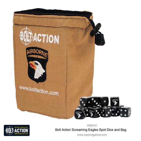 Screaming Eagles D6 and dice bag