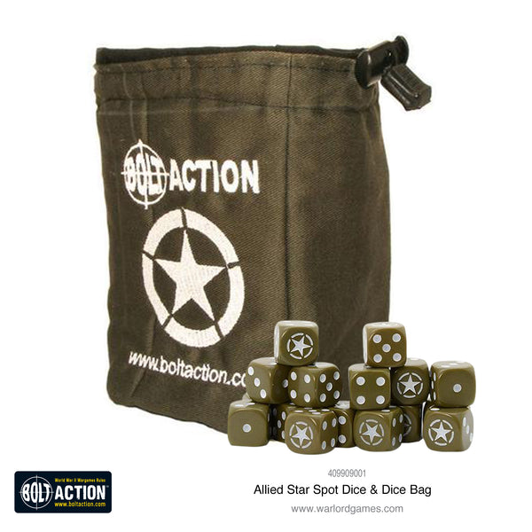 Allied Star D6 and dice bag