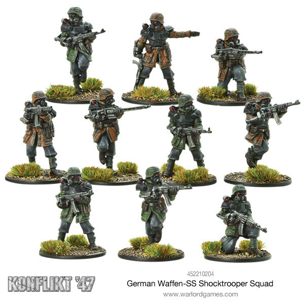 waffen ss shocktrooper squad warlord games