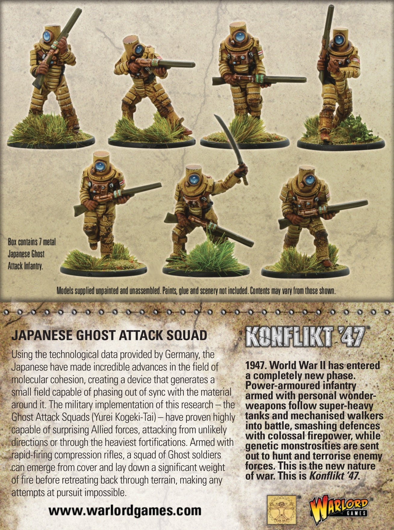 Japanese Ghost Attack Squad Warlord Games