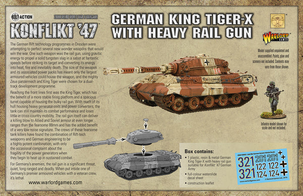 King Tiger-X with heavy rail gun