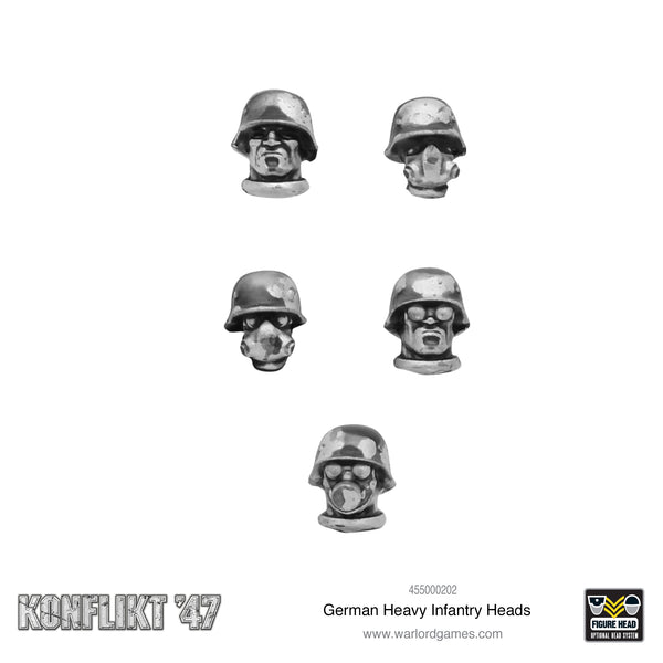 Konflikt 47: German Heavy Infantry heads