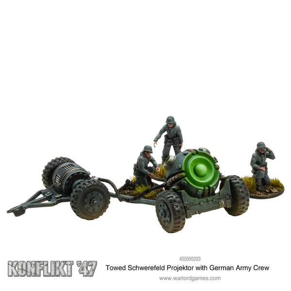 Towed Schwerefeld Projektor (German Army crew)