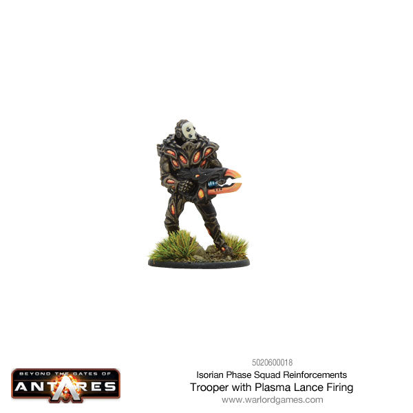 Isorian Phase Squad trooper with plasma lance firing