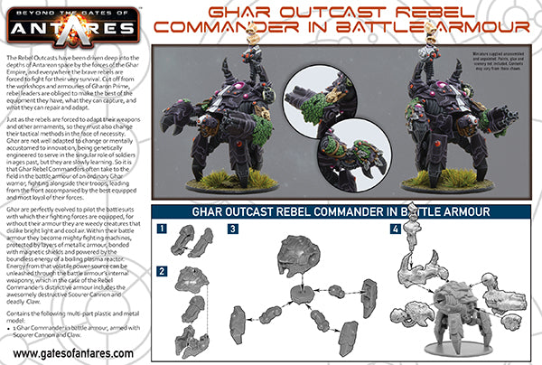 Outcast Rebel Commander in Battle Armour