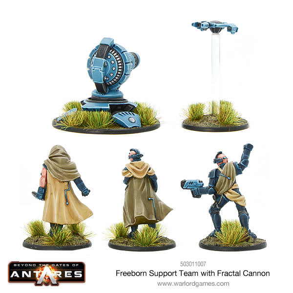 Freeborn Support Team with Fractal Cannon