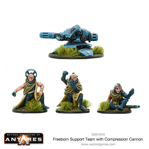 Freeborn Support team with Compression Cannon