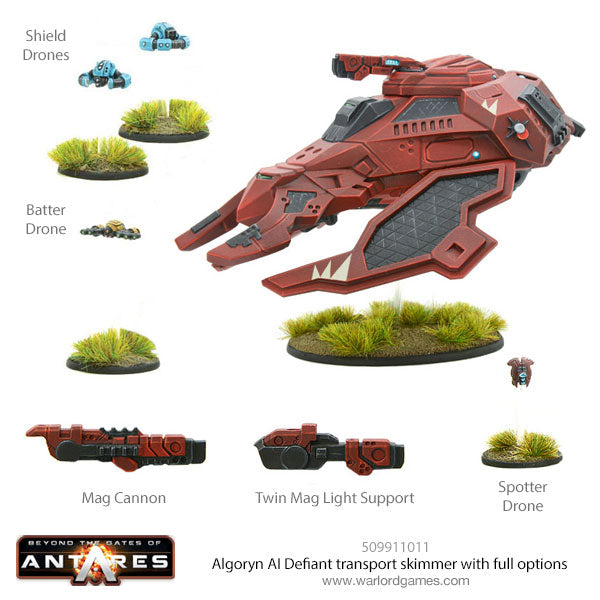 Algoryn AI Defiant transport skimmer with full options