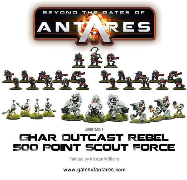 Ghar Outcast Rebel 500 point Scout Force
