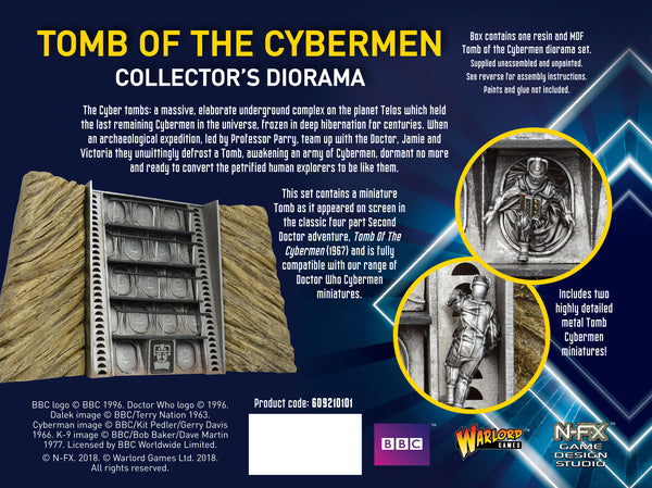 Tomb of the Cybermen Collectors Diorama (UNPAINTED)