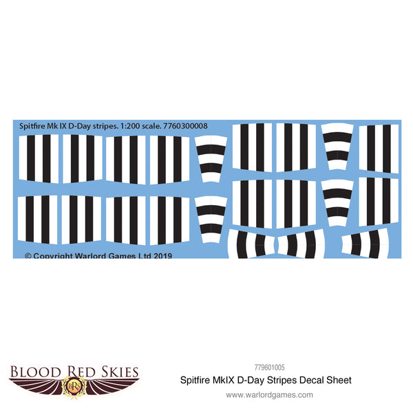 Spitfire Mk IX D-Day stripes decal sheet