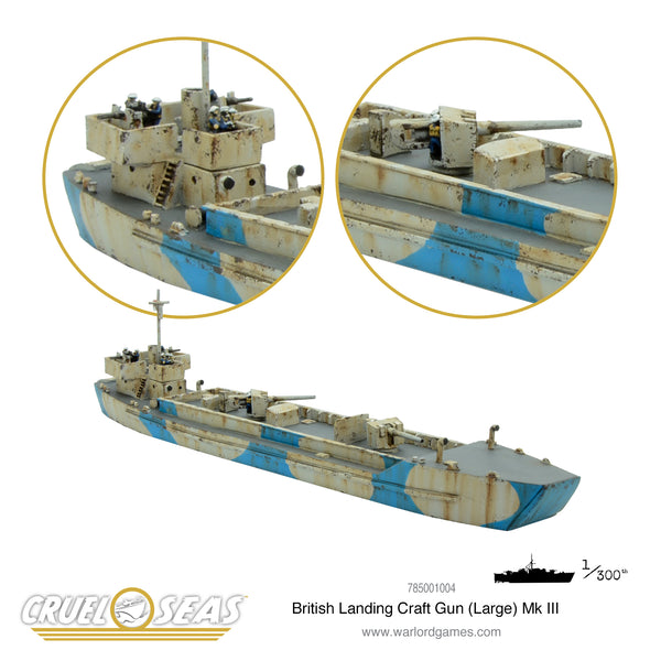 Cruel Seas: British Landing Craft Gun (large) Mk III