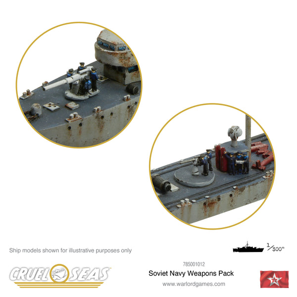 Cruel Seas Soviet Navy weapons pack