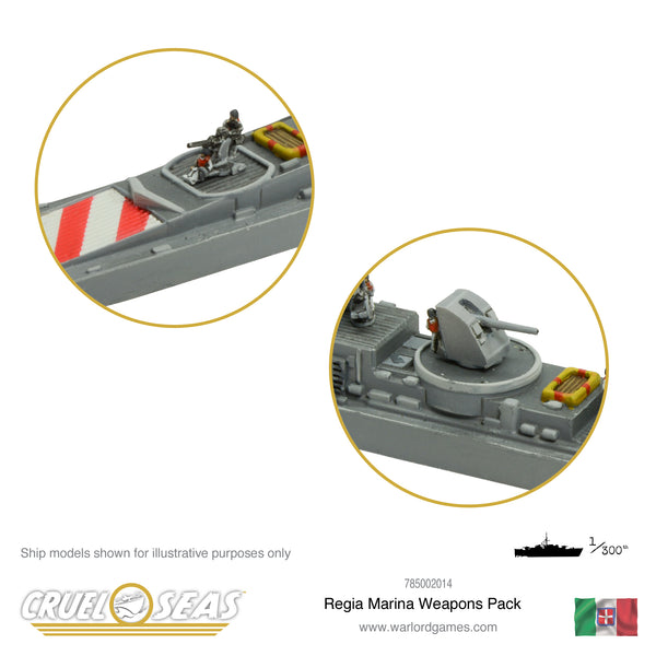 Cruel Seas Regia Marina weapons pack