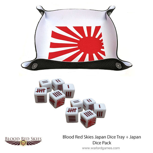 Blood Red Skies Japan Dice Tray + Japan Dice Pack