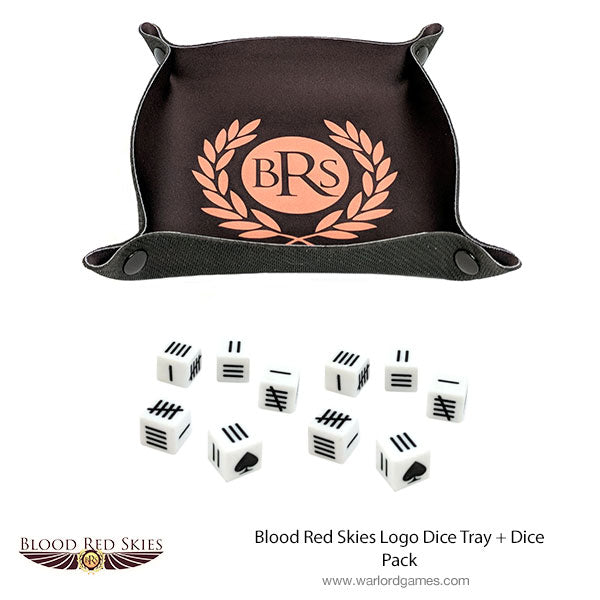 Blood Red Skies Logo Dice Tray + Dice Pack